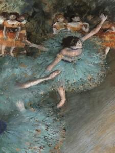 """""""Bailarina basculando (Bailarina Verde)"""" - Degas"""