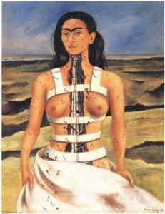 """La columna rota (Autorretrato)"" - Frida Kahlo"